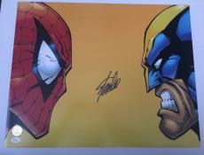 Stan Lee Signed Autographed 16x20 Photo Spiderman Wolverine JSA COA 9