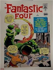 Stan Lee Signed Autographed 18x24 HUGE Poster Fantastic Four #1 COA