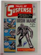 Stan Lee Signed Autographed 18x24 HUGE Poster Iron Man #1 Tales Of Suspense COA