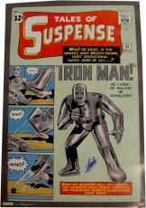 Stan Lee Signed Autographed 24x36 HUGE Poster Iron Man - Tales Of Suspense Holo