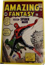 Stan Lee Signed Autographed 24x36 HUGE Poster Spider-Man Amazing Fantasy Holo