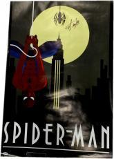 Stan Lee Signed Autographed 24x36 HUGE Poster Spider-Man PSA/DNA Z15009