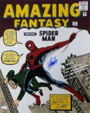 Stan Lee Signed Autographed Amazing Fantasy Spiderman 16x20 Photo JSA Authentic