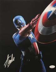 Stan Lee Signed Autographed Captain America 11x14 Photo JSA Authentic