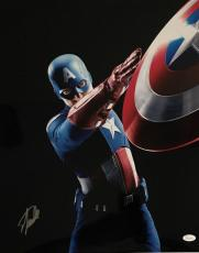 Stan Lee Signed Autographed Captain America 16x20 Photo JSA Authentic