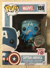 Stan Lee Signed Autographed Captain America Funko Pop Marvel Universe JSA COA 1