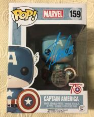 Stan Lee Signed Autographed Captain America Funko Pop Marvel Universe JSA COA 10
