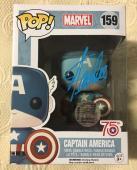 Stan Lee Signed Autographed Captain America Funko Pop Marvel Universe JSA COA 10