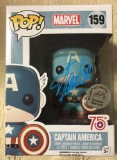 Stan Lee Signed Autographed Captain America Funko Pop Marvel Universe JSA COA 9