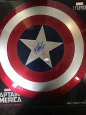 Stan Lee Signed Autographed Captain America Marvel Legends Shield JSA Witness