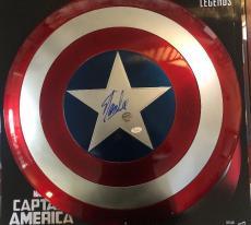 Stan Lee Signed Autographed Captain America Marvel Legends Shield JSA WitnessCOA