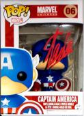 Stan Lee Signed Autographed Captain America POP Figure JSA Authenticated