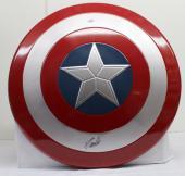 Stan Lee Signed Autographed Captain America Shield Marvel Comics Psa/dna Ac32417