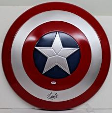 Stan Lee Signed Autographed Captain America Shield Marvel Comics Psa/dna Ac32428