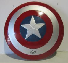 Stan Lee Signed Autographed Captain America Shield Marvel Comics Psa/dna Ac32434