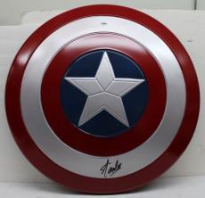 Stan Lee Signed Autographed Captain America Shield Marvel Comics Psa/dna Ac65915