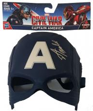 Stan Lee Signed Autographed Captain America Toy Mask JSA Authentic Marvel