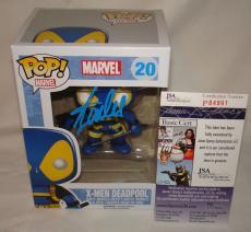 Stan Lee Signed   Autographed Deadpool Funko Pop Toy Doll Figurine - JSA