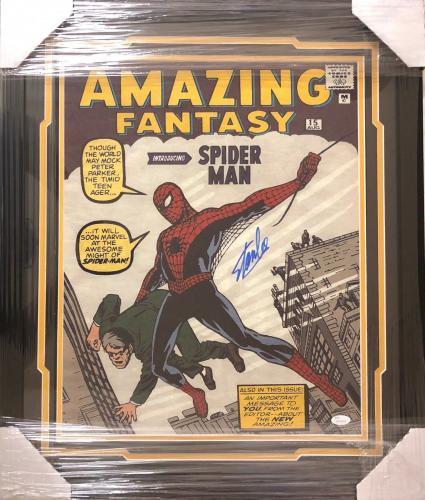 Stan Lee Signed Autographed Framed 16x20 Photo JSA Authen Excelsior Marvel 2