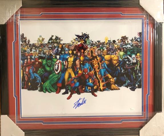 Stan Lee Signed Autographed Framed 16x20 Photo JSA Authen Excelsior Marvel 3