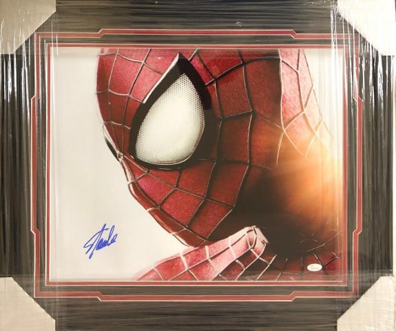 Stan Lee Signed Autographed Framed 16x20 Photo JSA Authen Excelsior Marvel 4