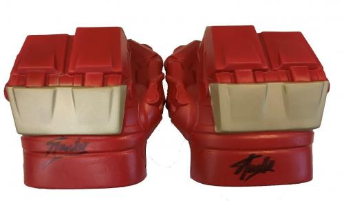 Stan Lee Signed Autographed Iron Man Hulk Buster Gauntlets JSA Authentic Pair