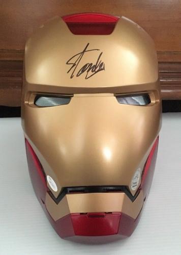 STAN LEE Signed Autographed Iron Man MARVEL LEGENDS SERIES HELMET JSA COA 4