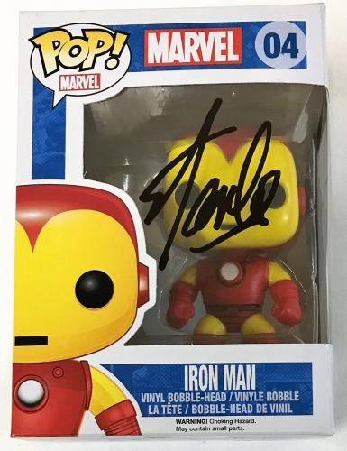 Stan Lee Signed Autographed Iron Man POP Figure JSA Authenticated Black
