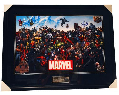 Stan Lee Signed Autographed Marvel Comics Photo Framed