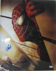 Stan Lee Signed Autographed Marvel Comics Spider-man 16x20 Photo Psa/dna Ab63317