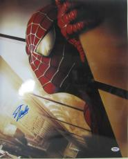 Stan Lee Signed Autographed Marvel Comics Spider-man 16x20 Photo Psa/dna Ab63318