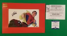 Stan Lee Signed Autographed Marvel Spiderman Matted Cel Cell Limited Bas Coa