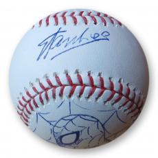 Stan Lee Signed Autographed MLB Baseball Spiderman Sketch Marvel PSA/DNA