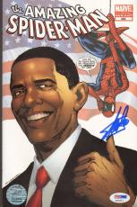 STAN LEE Signed Autographed SPIDER-MAN Barack Obama Comic Book PSA/DNA #X26511