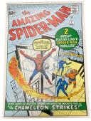Stan Lee Signed Autographed The Amazing Spider Man Unstretched Canvas JSA Authen
