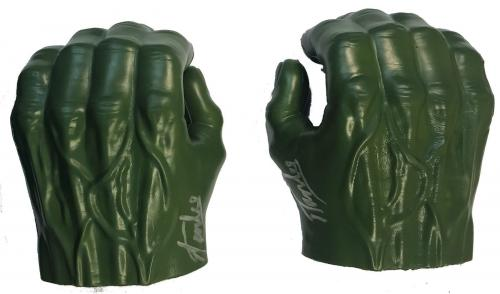 Stan Lee Signed Autographed The Hulk Gauntlets JSA Authentic Pair Marvel