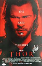 Stan Lee Signed Autographed THOR 10x16 Movie Poster JSA Authentic