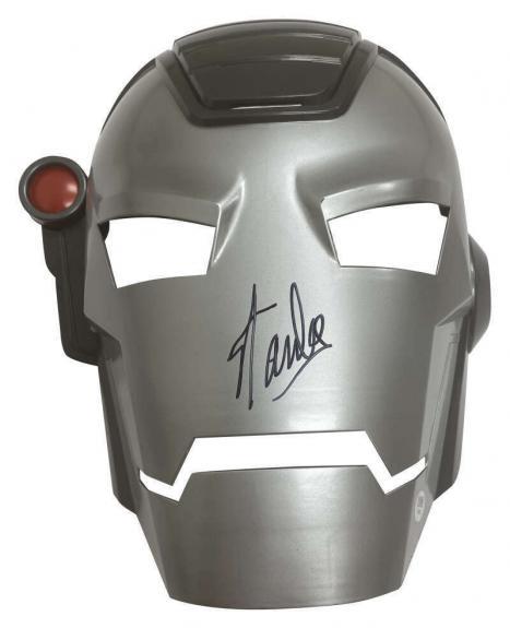 Stan Lee Signed Autographed War Machine Mask Marvel PSA/DNA