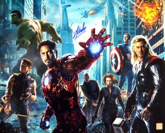 Stan Lee Signed Avengers 16x20 Photo