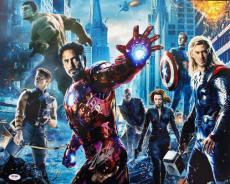 Stan Lee Signed Avengers Cast 16X20 Photo Autographed PSA/DNA