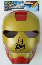 Stan Lee Signed Avengers Iron Man Mask W/ Stan Lee Hologram & PSA/DNA