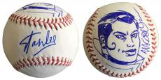 Stan Lee Signed Baseball w/ Michael Golden Sketch of Rogue Lee Holo JSA L26401