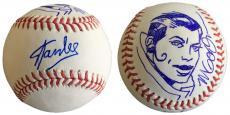 Stan Lee Signed Baseball w/ Michael Golden Sketch of Rogue Lee Holo JSA L26404