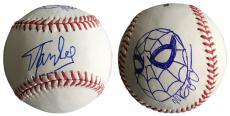 Stan Lee Signed Baseball w/ Michael Golden Sketch of Spider-Man JSA L26405