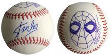 Stan Lee Signed Baseball w/ Michael Golden Sketch of Spider-Man JSA L26406