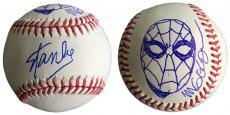 Stan Lee Signed Baseball w/ Michael Golden Sketch of Spider-Man JSA L26408