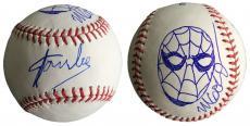 Stan Lee Signed Baseball w/ Michael Golden Sketch of Spider-Man JSA L26420