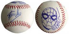 Stan Lee Signed Baseball w/ Michael Golden Sketch of Spider-Man JSA L26421