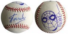 Stan Lee Signed Baseball w/ Michael Golden Sketch of Spider-Man JSA L26422