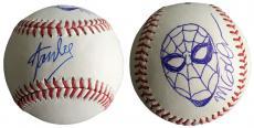 Stan Lee Signed Baseball w/ Michael Golden Sketch of Spider-Man JSA L26426